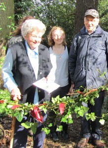 Mollie Martineau Launching the Nature Trail