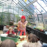 Miranda sharing gardening top tips at a recent event