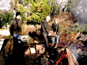 Winter tasks at Martineau Gardens