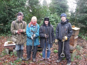 Working in the woodland at Martineau Gardens