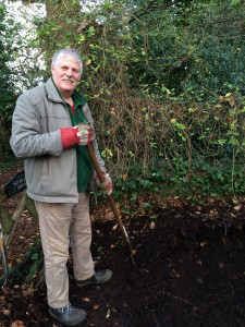 Raking through the leaf mould