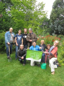 Celebrations! Volunteers and Staff on Green Flag Day, 2015 at Martineau Gardens